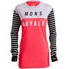 Mons Royale W's Boyfriend LS Stripes/Pink/Grey Marl